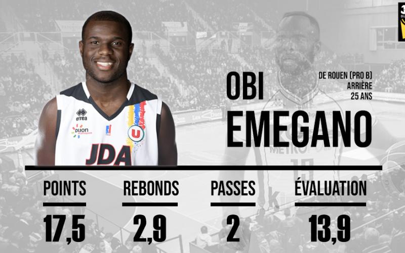 Obi Emegano est désormais un joueur de la JDA Dijon