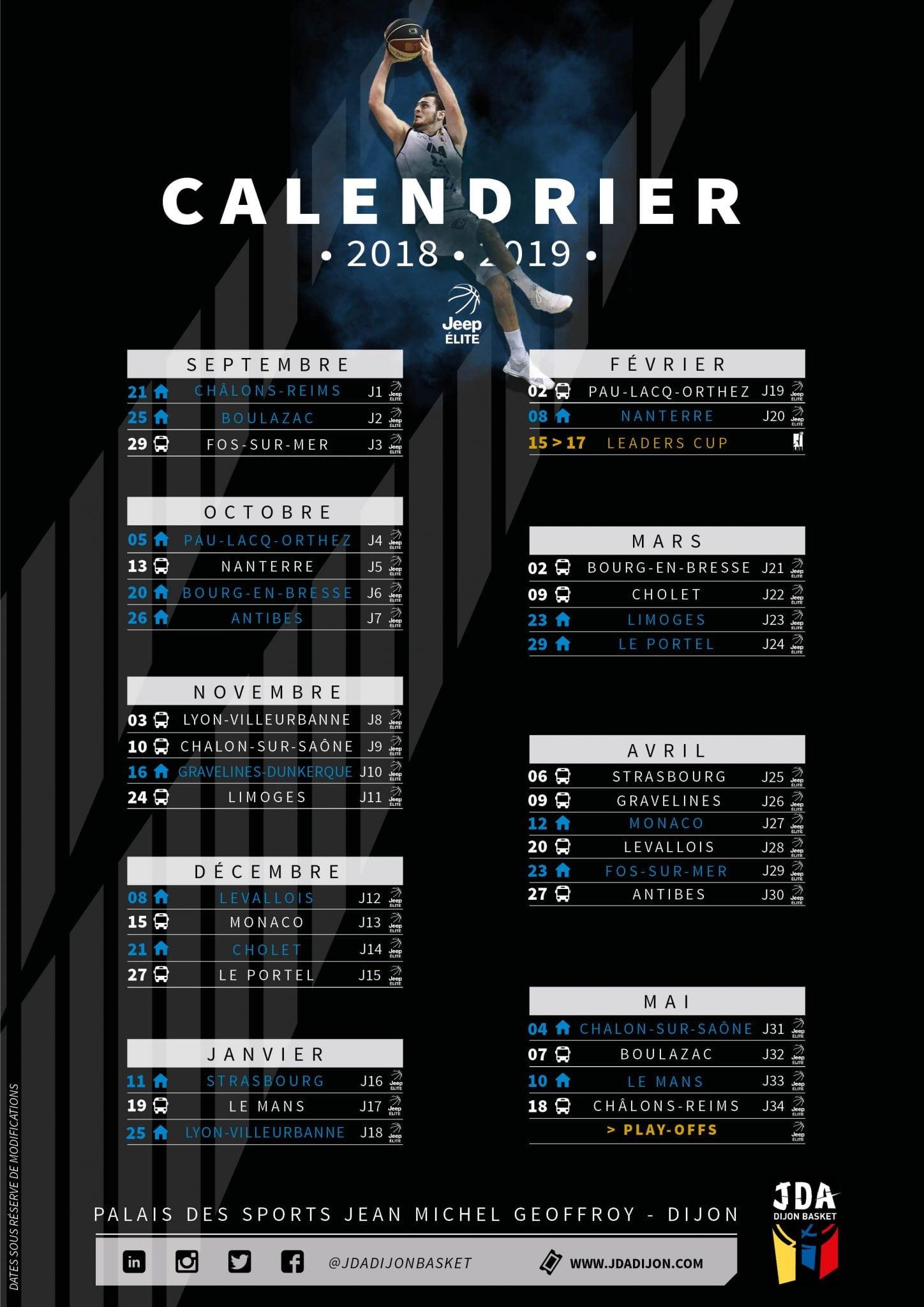 calendrier-jeep 2018/2019