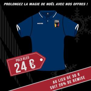Polo bleu promo