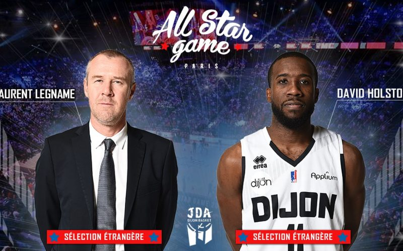 Laurent Legname et David Holston au All Star Game LNB 2018