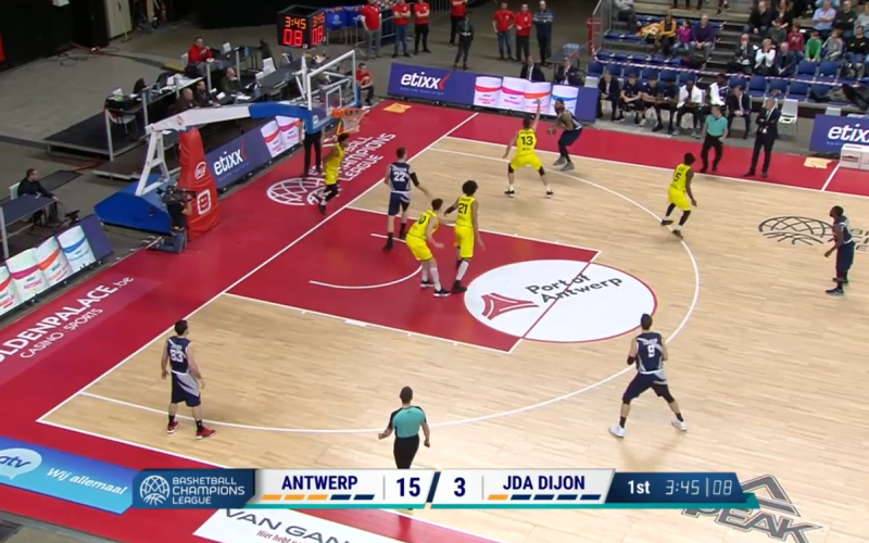 Anvers – JDA Dijon en vidéo