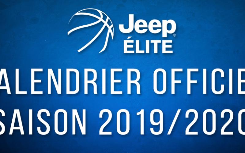 Le calendrier de la Jeep ELITE est arrivé !