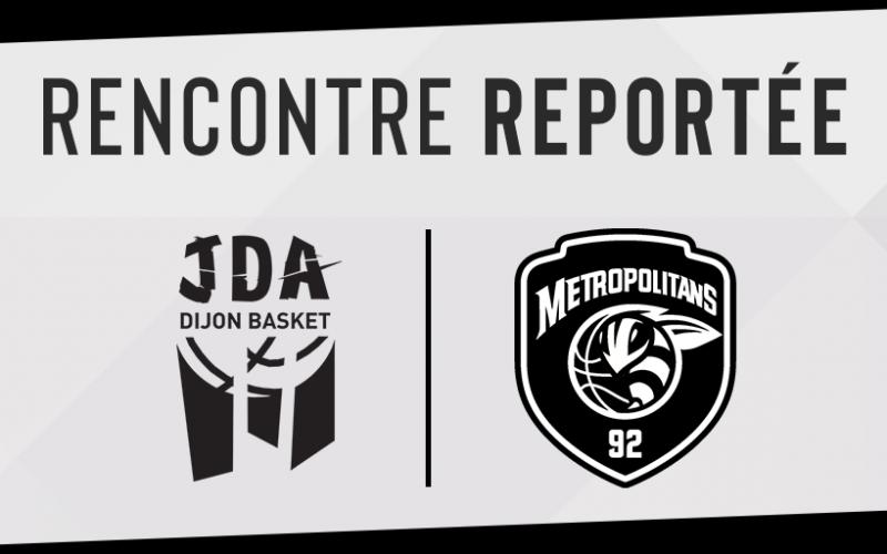 JDA Dijon – Boulogne : match reporté
