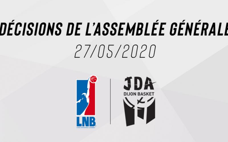Décisions de l'Assemblée Générale de la Ligue Nationale de Basket