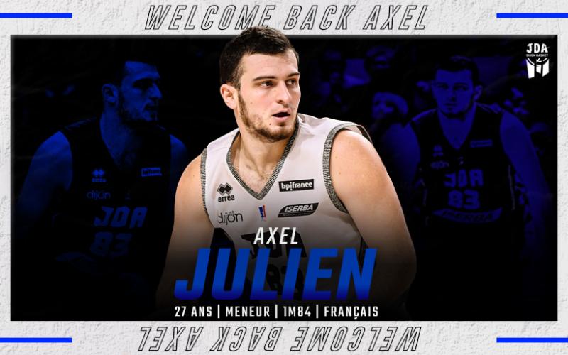 Axel Julien et la JDA Dijon prolongent leur aventure commune