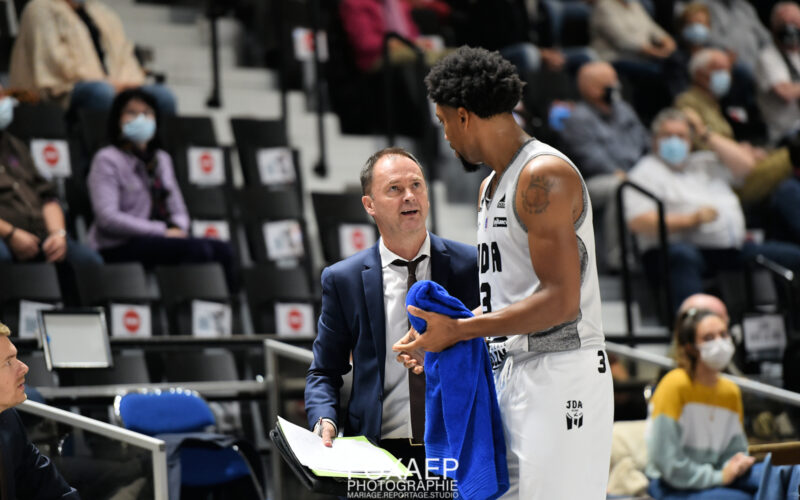Frédéric Wiscart-Goetz après JDA Dijon – Champagne Basket