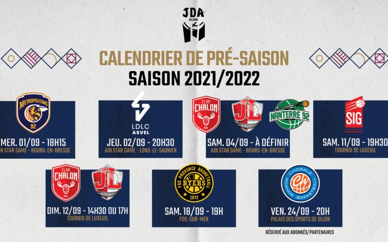 Le calendrier de pré-saison dévoilé !
